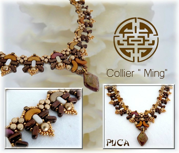 Planche collier Ming Brown