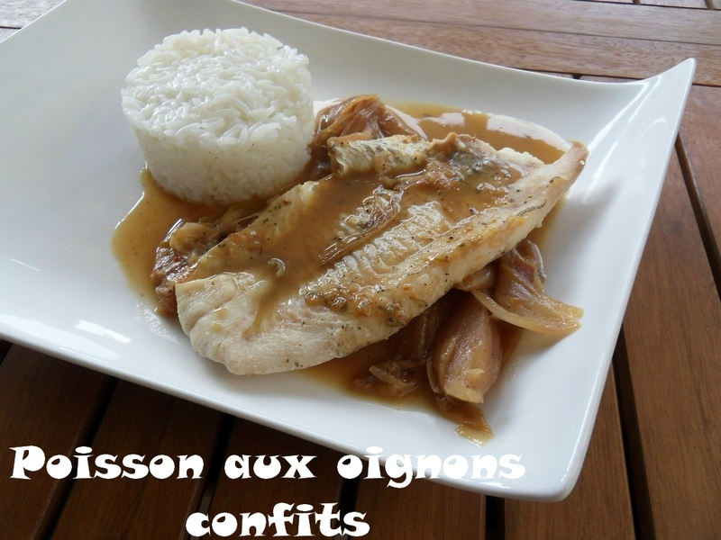 poisson aux oignons confits