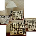 Trousse brodée alphabet