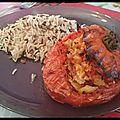 Tomates farcies au poulet et feta