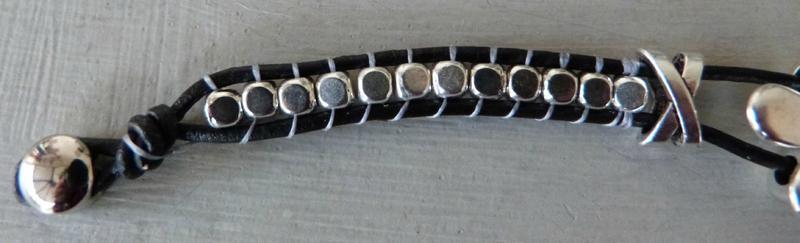 Bracelet macramé métal Zamak (2)