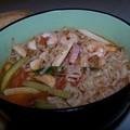 Nouilles chinoises crevettes-calamars