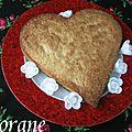 Le cookie géant de la saint valentin