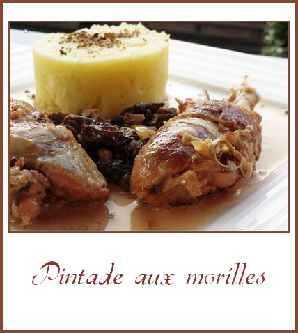 pintade aux morilles