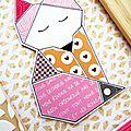 Home-deco invitée créa sokai // renard origami // scrapbooking - loisirs creatifs