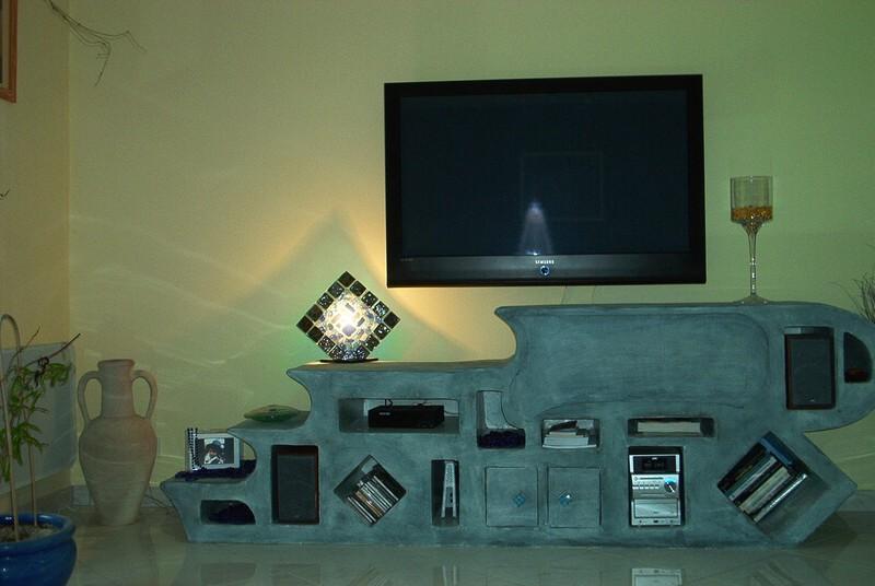 meuble en carton tv hifi box cr active. Black Bedroom Furniture Sets. Home Design Ideas