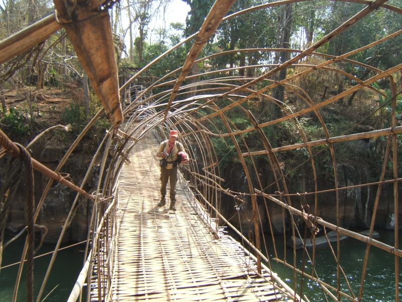 Mignon petit pont en bambou