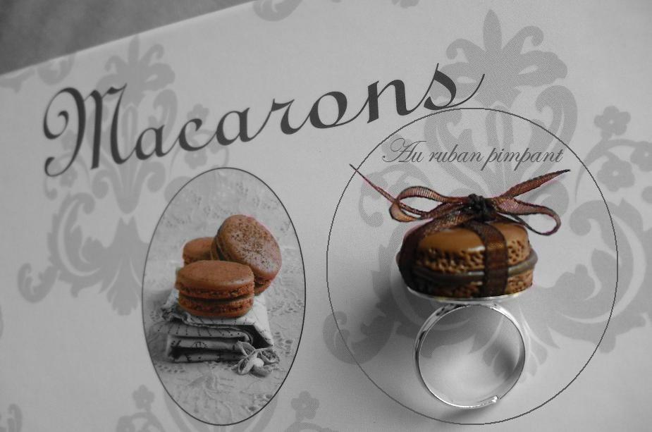 Bague macaron marron 10 euros
