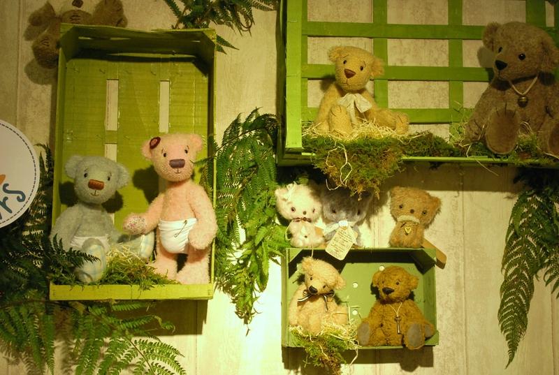Les ours dans leur cagette...