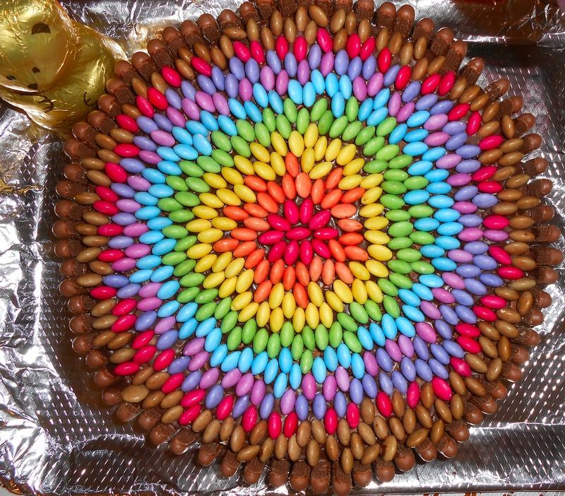 Decoration Gateau Smarties Ans