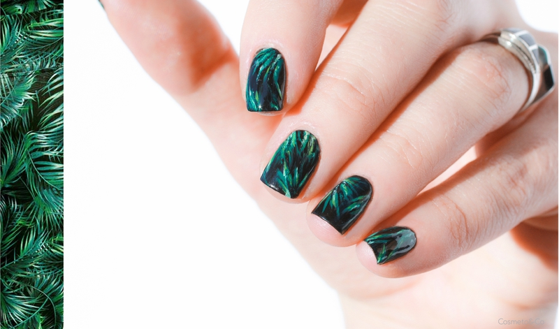 nail art feuilles tropicales_-31