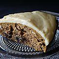 Gâteau au potiron et glaçage au fromage frais et épices
