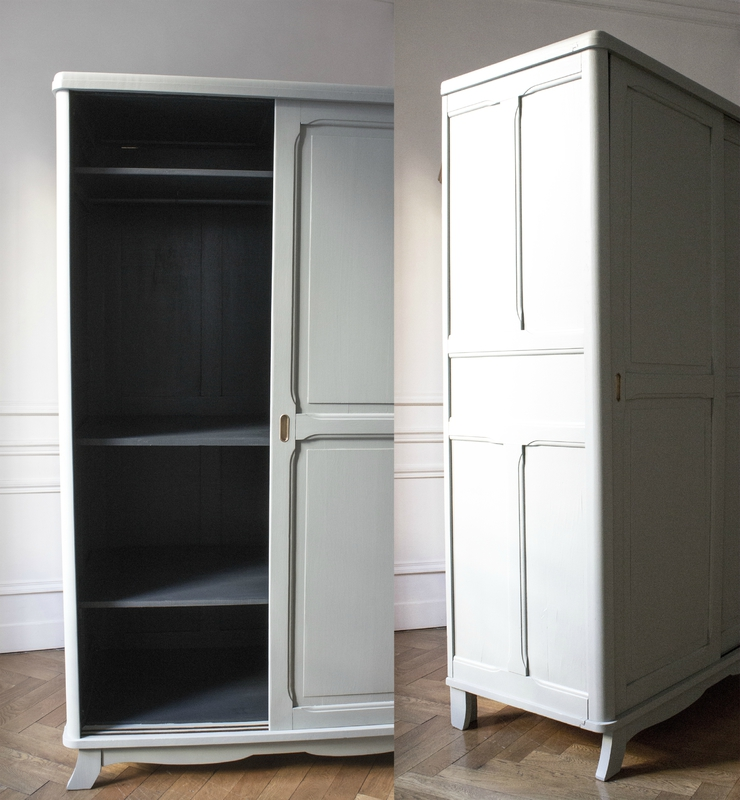 Grande armoire type parisienne trendy little for Grande armoire chambre