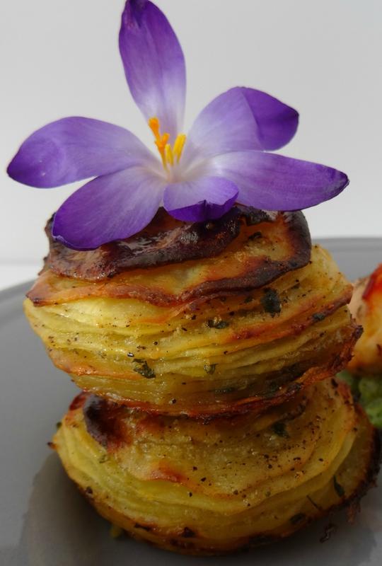 Pommes de terre fines à l'ail