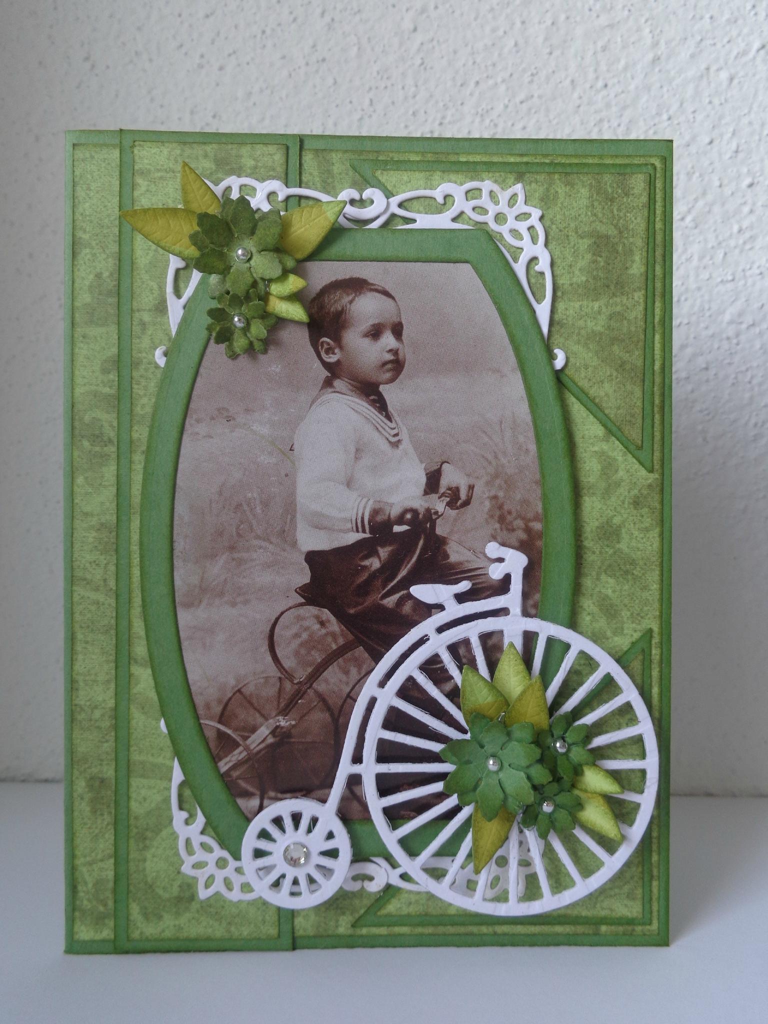 "Carte vintage ""vert antique"""