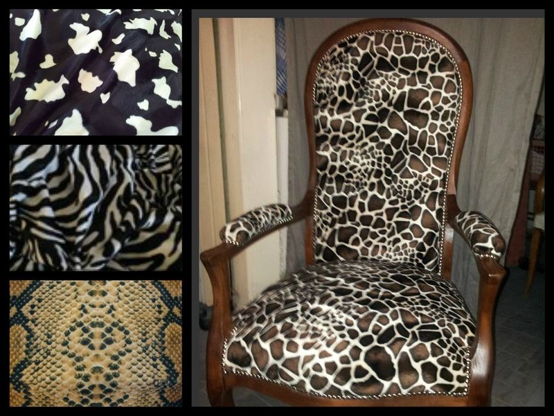 fauteuil voltaire microfibre girafon relooking de sieges. Black Bedroom Furniture Sets. Home Design Ideas