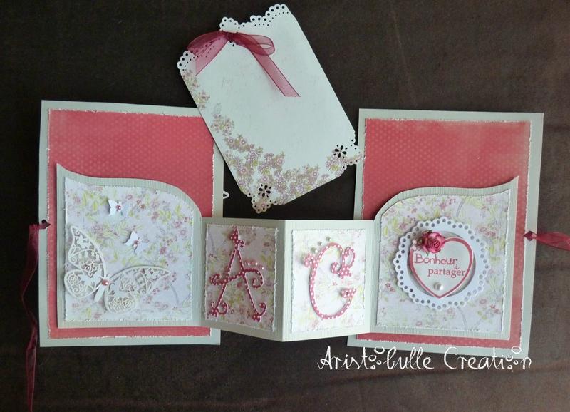 Carte mariage romantique porte-chèque - carte message