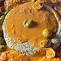 flan de foies de volailles, quenelles, sauce aurore