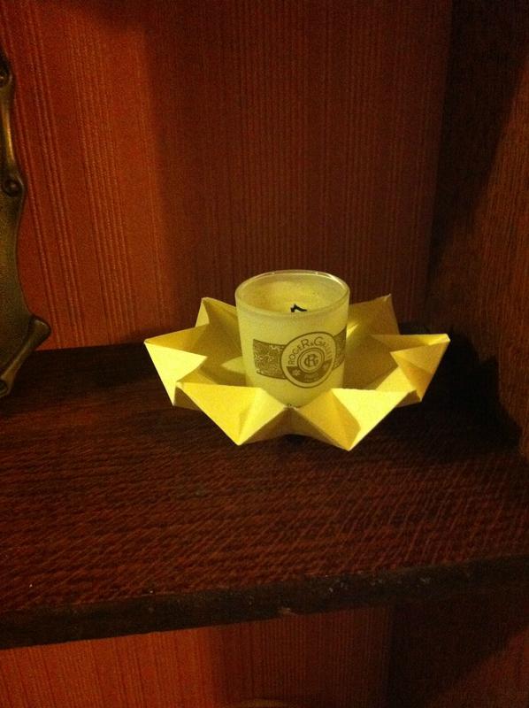 porte bougie origami autre vue