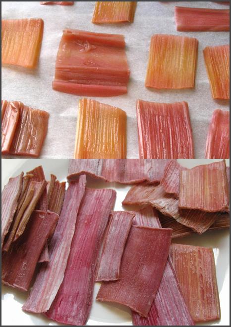 rhubarbe salé séchée