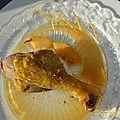cuisses de canard au cédrat et au marsala