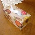 boite à mouchoir en collage de serviette