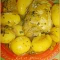 Fricassée de poulet et ses pommes de terres