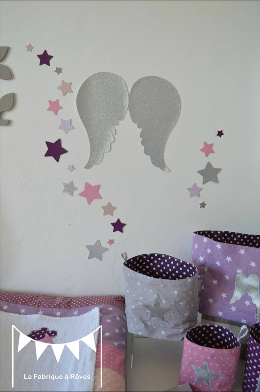 Chambre Bb Grise Et Rose. Fabulous Mobile Suspension Papillons ...