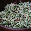 Salade de riz aux fanes de fenouil