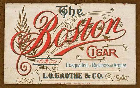 boston cigar Grothé 1897