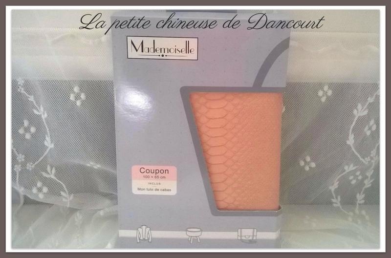 Kit cabas Mademoiselle lézard rose poudré la petite chineuse de Dancourt