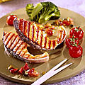 Côtelettes de saumon grillées à l'huile parfumée
