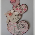 Carte saint valentin et son tuto!! ♥