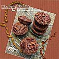 Moelleux fondant chocolat caramel & noix de pecan