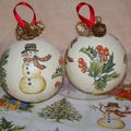 boule de noel en polystyrne .........