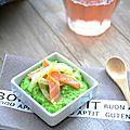 Saumon & fenouil marinés, crème douceur de petits pois...ig bas (battle food #21)