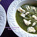 Soupe glacée de courgettes au basilic