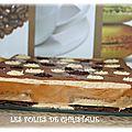 Mousse bailey's sur son fondant chocolat