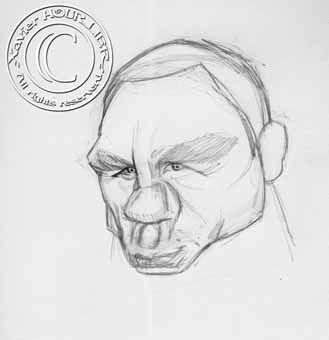 DANIEL_CRAIG_SKETCH_by_xavier_hourlier