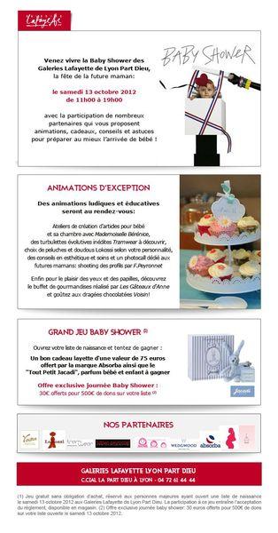 baby shower galeriie lafayette oct 2012