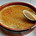 Fausse crème brûlée à la vanille et lait de soja