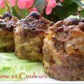Muffin monday #11 où comment détourner la chose avec une recette salée : muffins de pâtes , viande hachée et fruits secs