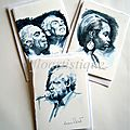 Lot 3 cartes artistes de jazz