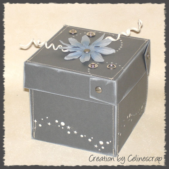 boite explosion celine scrap creation scrapbooking cartes mini album deco. Black Bedroom Furniture Sets. Home Design Ideas
