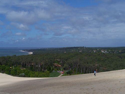 Dune du Pyla-Vue sur le Moulleau et Pereire