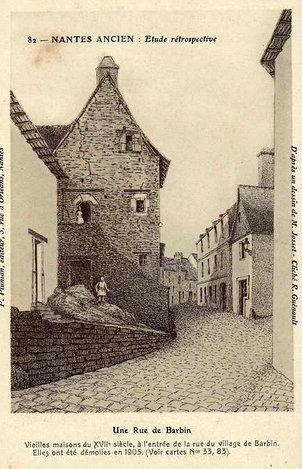 Ancien Nantes - Rue de Barbin