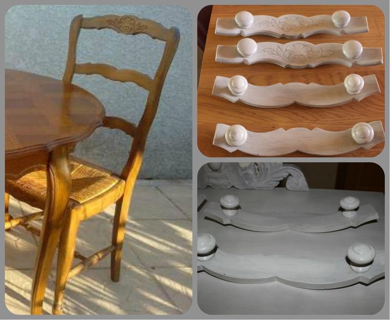 Patères avec chaises