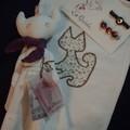 doudou-chat et sa pochette