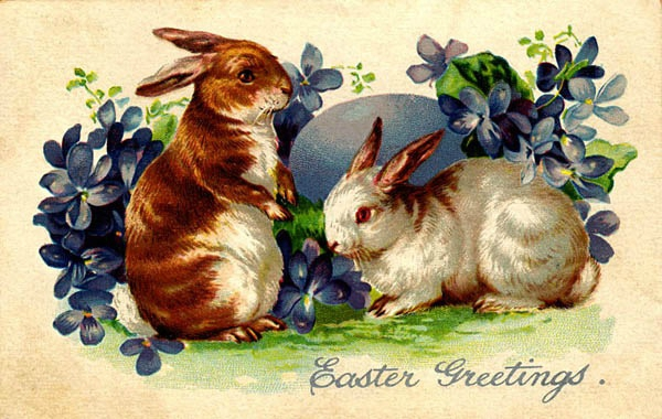 free-vintage-printable-easter-bunnies-with-blue-flowers-and-easter-egg