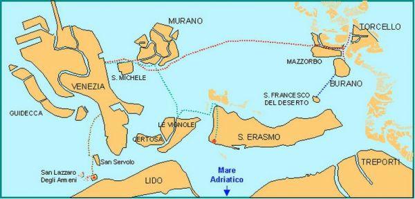 Venise et l île de Murano
